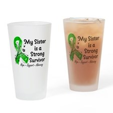 Sister Strong Survivor Drinking Glass