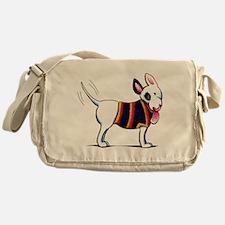 Bull Terrier Blue Messenger Bag