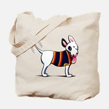 Bull Terrier Blue Tote Bag