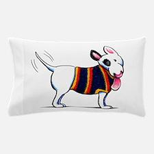 Bull Terrier Blue Pillow Case