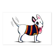 Bull Terrier Blue Postcards (Package of 8)
