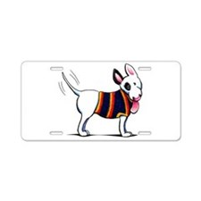 Bull Terrier Blue Aluminum License Plate