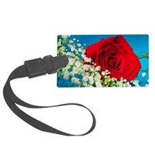 Rose with Baby's Breath Luggage Tag