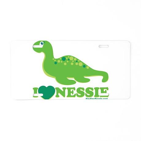 I Love Nessie Aluminum License Plate