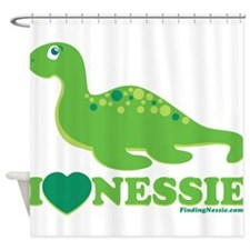 I Love Nessie Shower Curtain