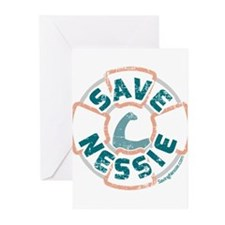 Save Nessie Greeting Cards