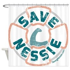 Save Nessie Shower Curtain