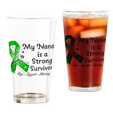 Nana Strong Survivor Drinking Glass