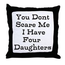 You Dont Scare Me I Have Four Daughters Throw Pill