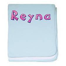 Reyna Pink Giraffe baby blanket
