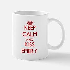 Keep Calm and Kiss Emery Mugs