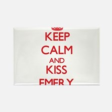 Keep Calm and Kiss Emery Magnets
