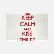 Keep Calm and Kiss Emilee Magnets