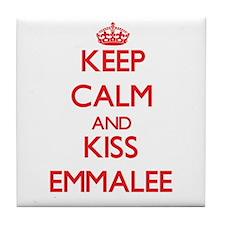 Keep Calm and Kiss Emmalee Tile Coaster