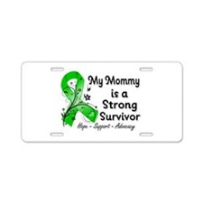 Mommy Strong Survivor Aluminum License Plate