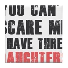 I have three daughters Tile Coaster