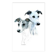 Whippet Pair Postcards (Package of 8)