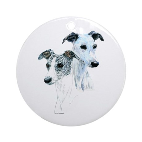 Whippet Pair Ornament (Round)