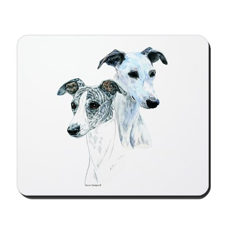 Whippet Pair Mousepad