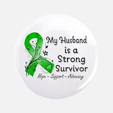 "Husband Strong Survivor 3.5"" Button"