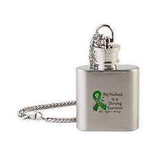 Husband Strong Survivor Flask Necklace