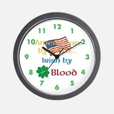 American By Birth Wall Clock