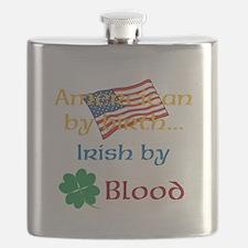 American By Birth Flask