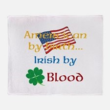 American By Birth Throw Blanket