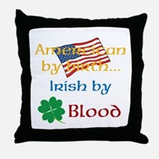American By Birth Throw Pillow