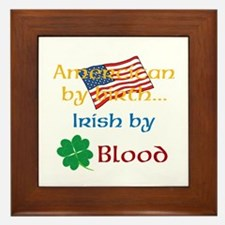 American By Birth Framed Tile