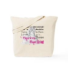 Barrel Racing T Tote Bag