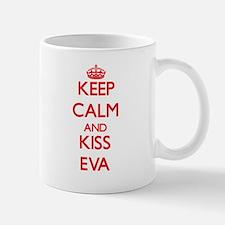 Keep Calm and Kiss Eva Mugs