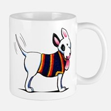 Bull Terrier Blue Mugs