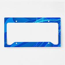 Blue Background License Plate Holder