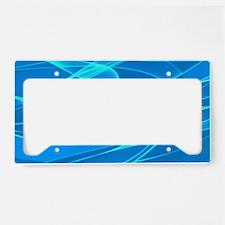 Blue Background Art License Plate Holder