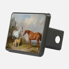 Two Horses and a Deerhound Hitch Cover