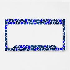 Mosaic Art License Plate Holder