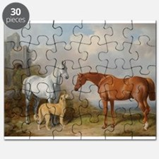 Two Horses and a Deerhound Puzzle