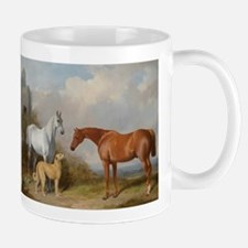 Two Horses and a Deerhound Mugs