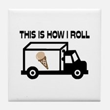 This Is How I Roll Ice Cream Truck Tile Coaster