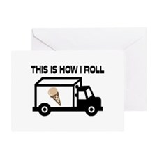 This Is How I Roll Ice Cream Truck Greeting Card