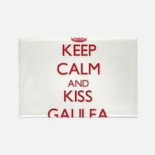 Keep Calm and Kiss Galilea Magnets
