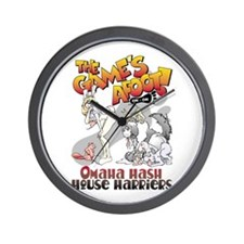 Traditional Omaha Hash Wall Clock