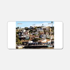 Houses On The Hill Aluminum License Plate