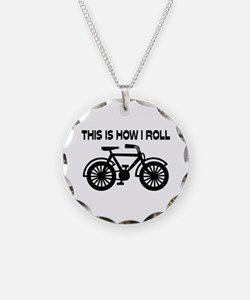This Is How I Roll Bicycle Necklace
