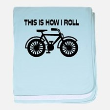 This Is How I Roll Bicycle baby blanket