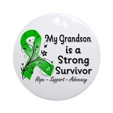 Grandson Strong Survivor Ornament (Round)