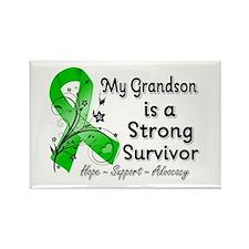 Grandson Strong Surviv Rectangle Magnet (10 pack)