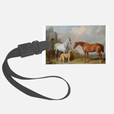 Two Horses and a Deerhound Luggage Tag