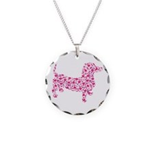 Valentine Dachshund Hearts Necklace